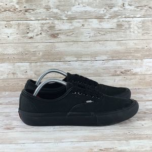 Vans Low Canvas Mens 10.5 Triple Black